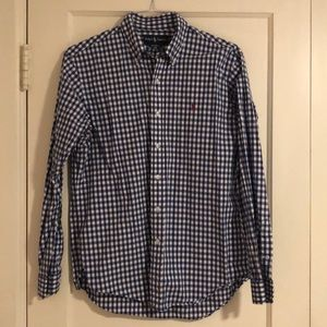 Polo Custom Fit Gingham Button Down